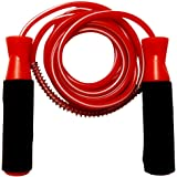 Storeaturdoor Premium Quality Standard Jumping Skipping Rope with Comfortable Foam Grip (Red)