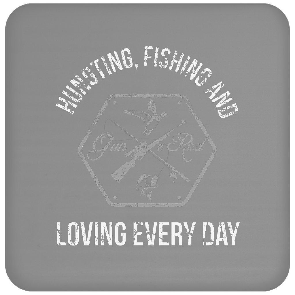 狩猟釣りand Loving Every Day面白いギフトハンターFisherman、コースター   B079NS2HTD