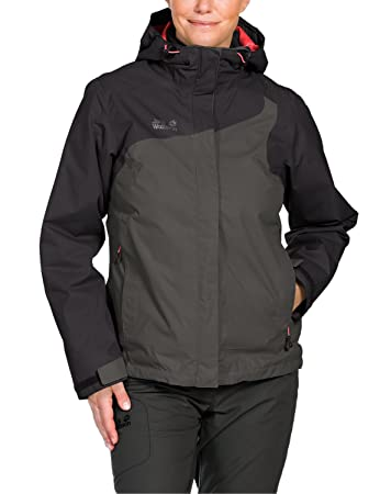 Jack Damen 3 Cool Women Dark In Doppel Wolfskin 1 Wave Steel Jacke dBCoxe