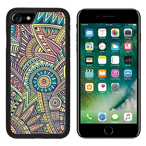 (Luxlady Apple iPhone 8 Case Aluminum Backplate Bumper Snap iPhone8 Cases Image ID: 37618264 Abstract Vintage Deco Vector Tribal Ethnic Background)