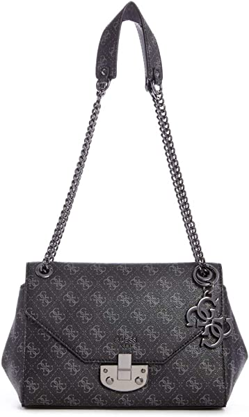 Guess Mia Shoulder Bag anthracite: Amazon.co.uk: Shoes & Bags