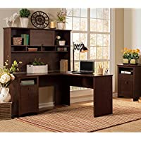 Buena Vista L Shaped Desk with Hutch and 2 Drawer File Cabinet