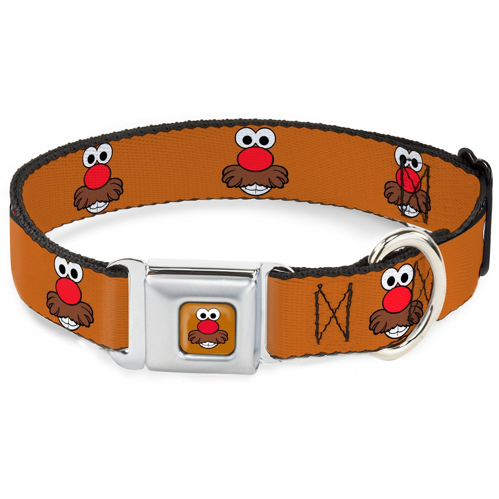 Buckle-Down 15-26  MPHD-Mr. Potato Head Face Close-UP Full color  Dog Collar, Large