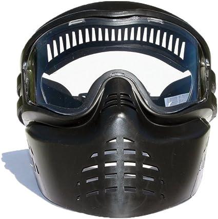 Amazon Com Gen X Global Xvsn Paintball Mask Black G 302 Xvsn Paintball Helmets Sports Outdoors