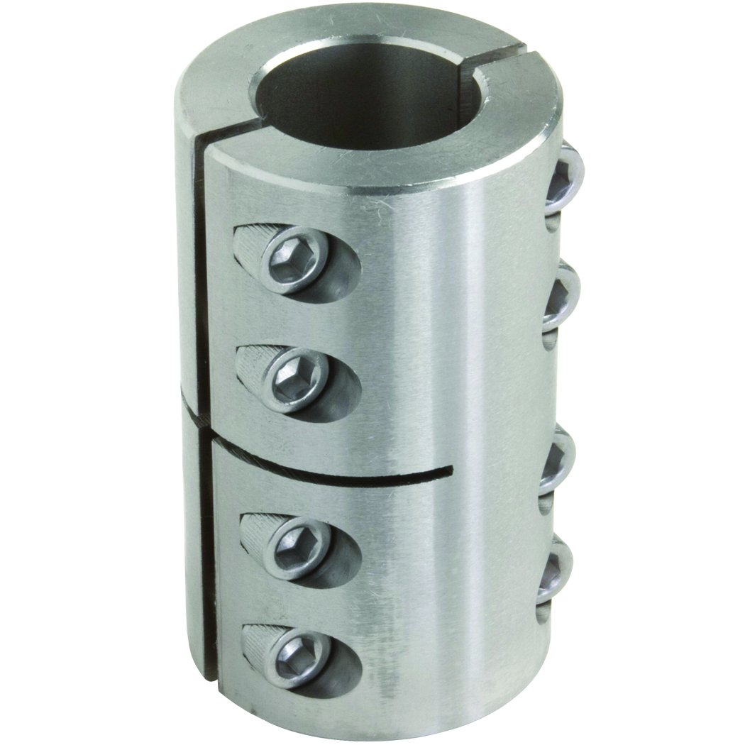 1//2 inch X 1//2 inch bore 1 1//8 inch OD 8-32 x 1//2 Clamp Screw 1 3//4 inch length Climax Part 2ISCC-050-050-S T303 Stainless Steel Clamping Coupling