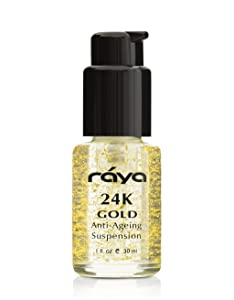 RAYA 24K Gold Anti-Aging Suspension (510) | Anti-Aging Facial Treatment Serum for All Skin Types | Made with Pure 24 Karat Gold | Softens and Helps Reduce Fine Lines and Wrinkles