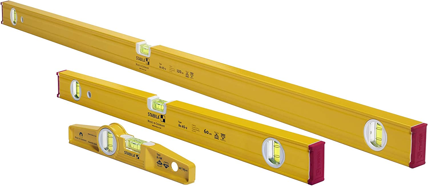 Stabila 29824 2 Spirit Levels and Type 81 SM 10-Inch Pro Set