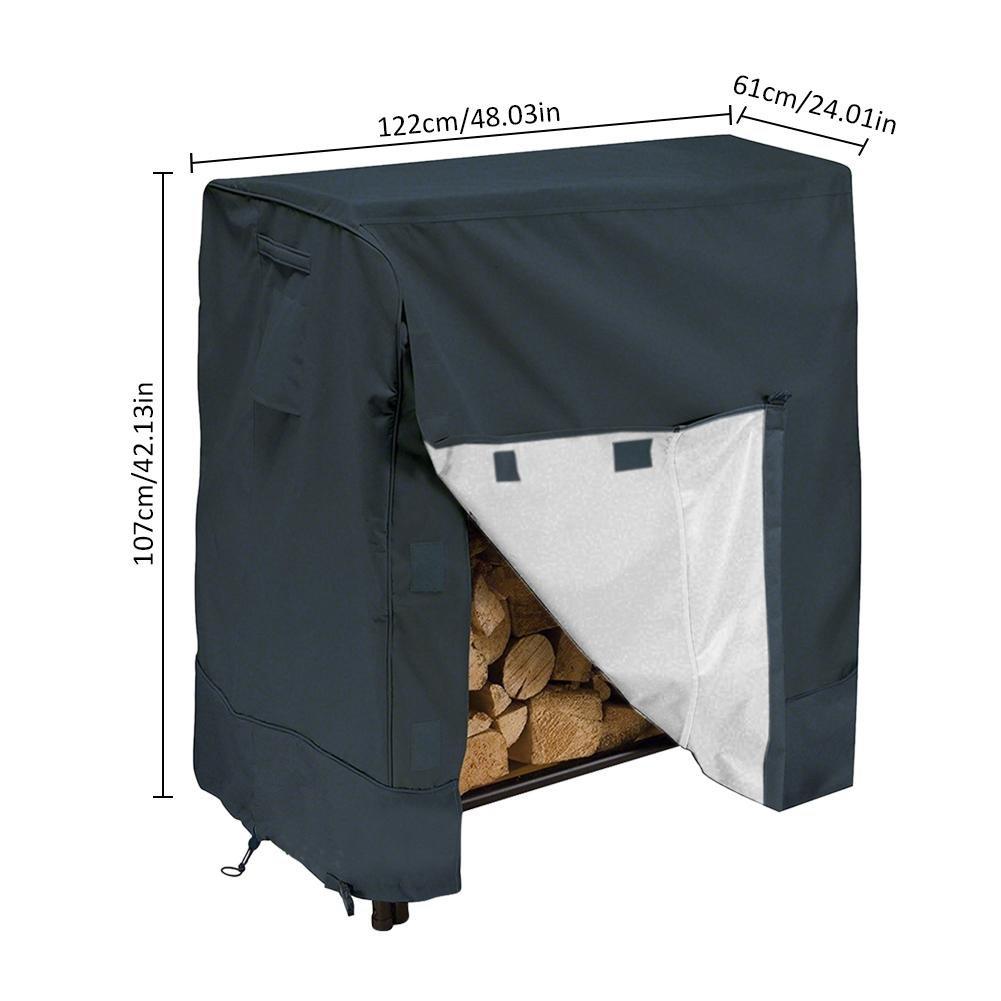 anti-polvere Lembeauty Garden portalegna portalegna copertura impermeabile idrorepellente legna da ardere Log Protector con borsa per il trasporto resistente ai raggi UV B 4FT