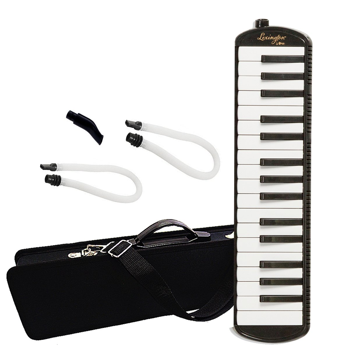 32 Piano Keys Melodica Made of Bronze Base and Reed, Package Includes 1 Carrying Case,1 Short, 2 Long Mouthpieces by Aileen (Image #9)