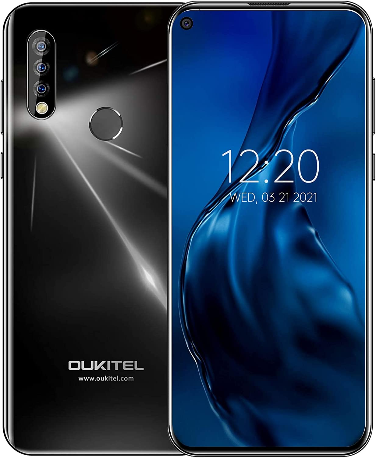 Unlocked Cell Phone,OUKITEL C17 Pro 6.35 inch Android Smartphone,2021 4G Dual SIM T-Mobile, AT&T,Metro PCS Phones,64GB ROM+4GB RAM 3 Cameras,Unlock Smartphones US Version,Volte,GPS,Bluetooth(Black)