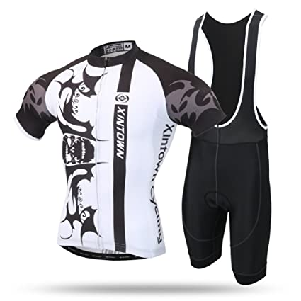 Xintow Mens Cycling Jersey Bicycle Bike Bib Shorts Racing Clothing Wear  Breathable Short Sleeve Jacket Shirt aebf63e09