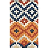 Safavieh Chelsea Collection HK726A Hand-Hooked Multicolored Premium Wool Area Rug (1'8'' x 2'6'')