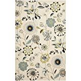 Safavieh Four Seasons Collection FRS482C Hand-Hooked Ivory and Blue Indoor/ Outdoor Area Rug (4' x 6')