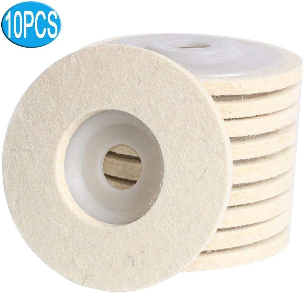 OLJF Buffing Wheels Wool Felt Polishing Wheel Flap disc Buffing Pad for 115x22mm Angle Grinder for Metal Polishing
