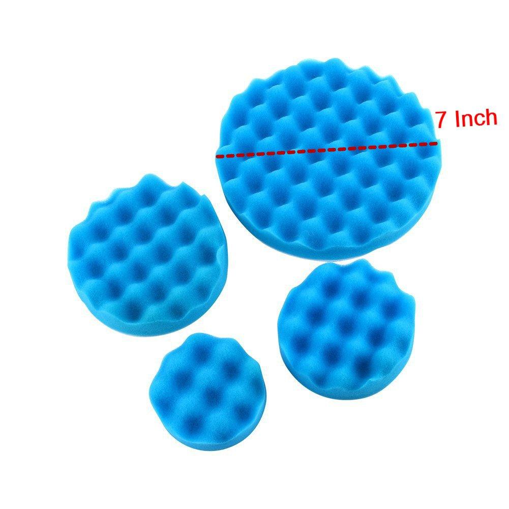 7'' Car Buffing Pads Polishing Sponge Pads Kit for Car Sanding Polisher Buffer Wash Cleaning 4pcs Set by Yosoo (Image #5)