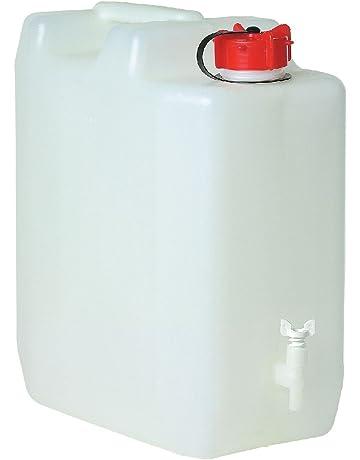 MyGarden 010987 Bid&Oacuten Agua con Grifo 35 litros, Deportes y Aire Libre, Blanco y