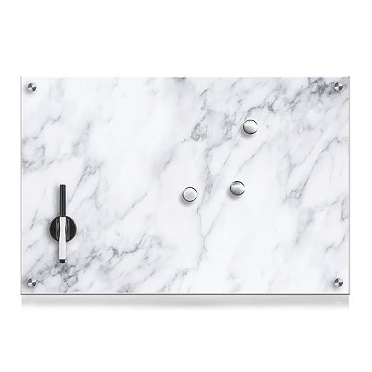114 opinioni per Zeller 11651Lavagnetta in vetro, legno, Cartone, Marmor, 60 x 40 cm