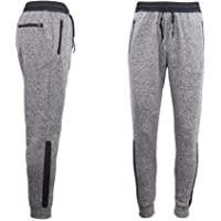 Zmart Mens Joggers Trousers Gym Sport Casual Sweat Track Pants Cuffed Hem w Zip Pocket