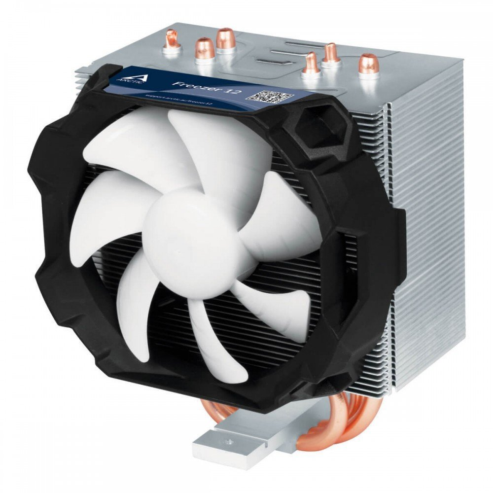 ARCTIC Freezer 12 – Compact and Quiet Semi Passive Tower CPU Cooler | 92 mm PWM Fan | For AMD AM4 and Intel 115x CPU | Recommended up to 130 W TDP by ARCTIC