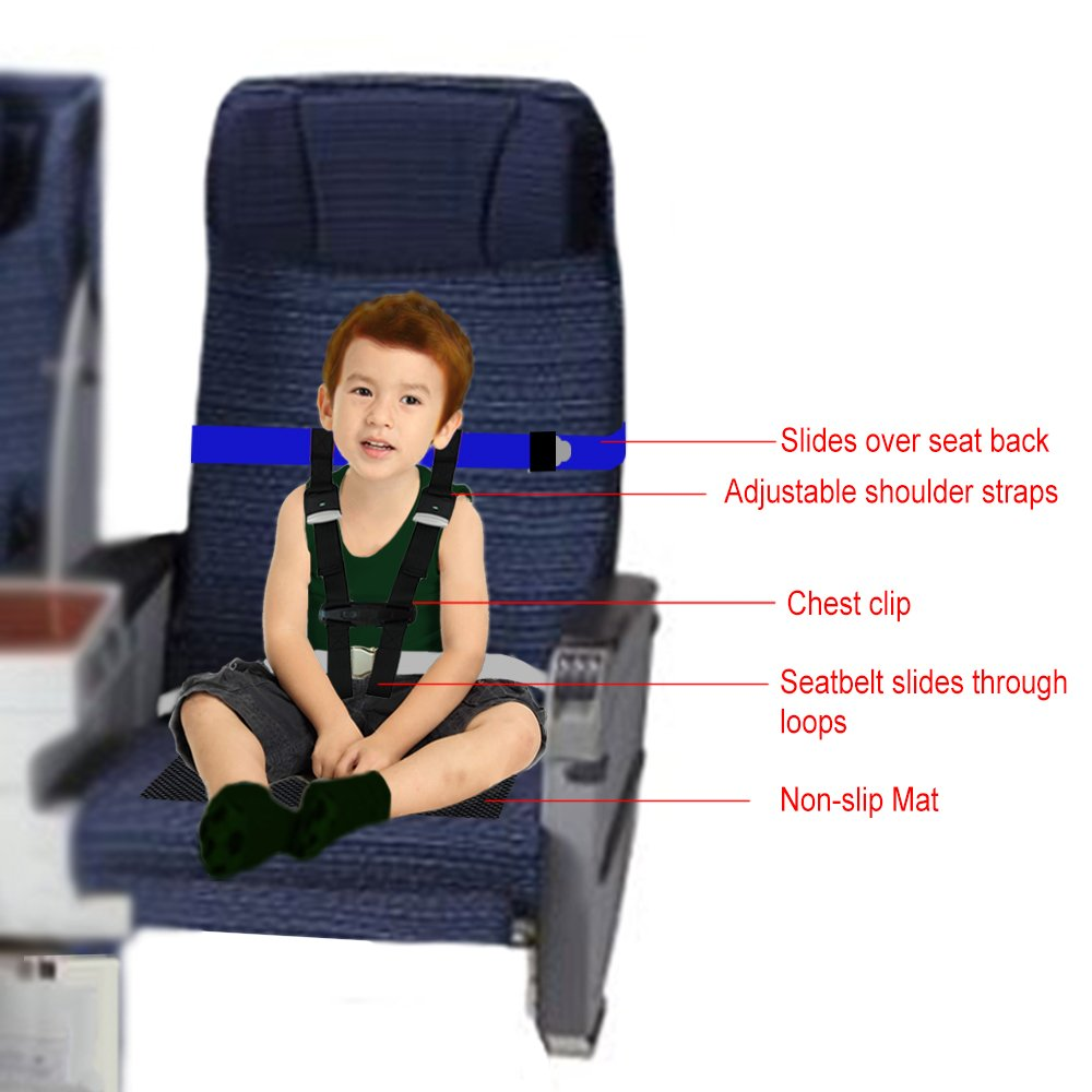 Children Care Harness Safety Airplane Restraint System with Non-Slip Drying Mat For Kids/Toddlers/Children by BabyKim by BabyKim (Image #2)