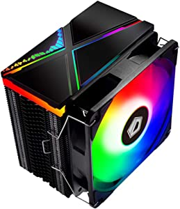 ID-COOLING SE-234-ARGB CPU Cooler AM4 CPU Cooler 5V Addressable RGB Cooler 4 Heatpipes CPU Air Cooler 120mm PWM Fan, Intel/AMD