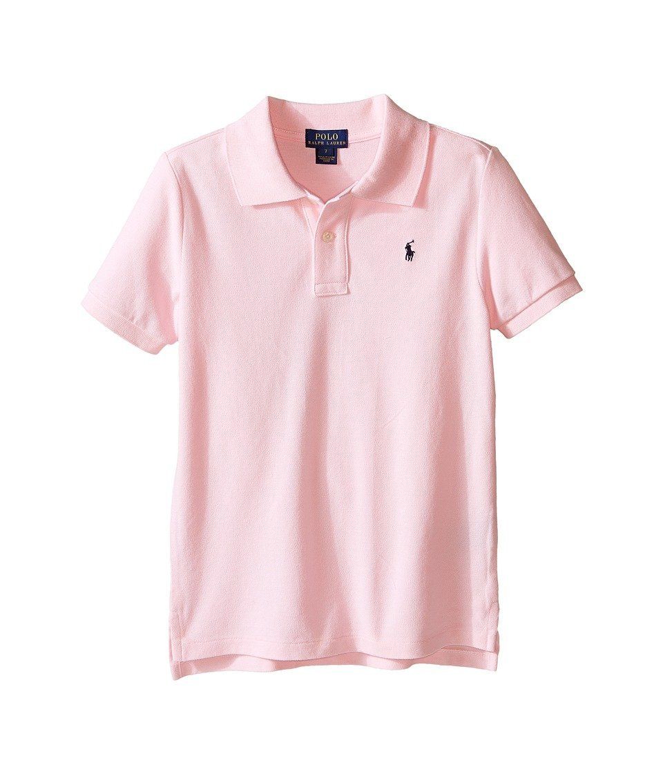 36f656373e40e6 Amazon.com   Polo Ralph Lauren Kids Basic Mesh Polo Little Kids Big Kids  Carmel Pink Boy s Short Sleeve Knit   Everything Else