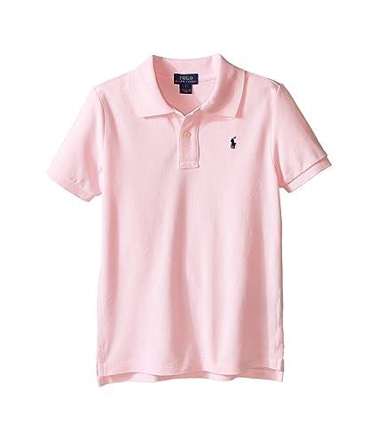 64b56a3be Amazon.com : Polo Ralph Lauren Kids Basic Mesh Polo Little Kids/Big Kids  Carmel Pink Boy's Short Sleeve Knit : Everything Else