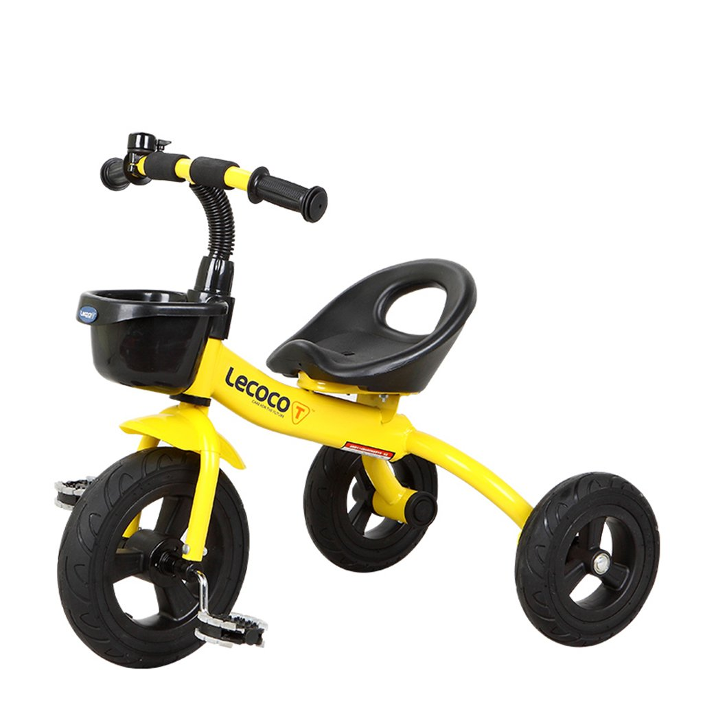 XQ 子供用三輪車自転車ベビーカー 子ども用自転車 ( 色 : イエロー いえろ゜ ) B07C8YPX68 イエロー いえろ゜ イエロー いえろ゜