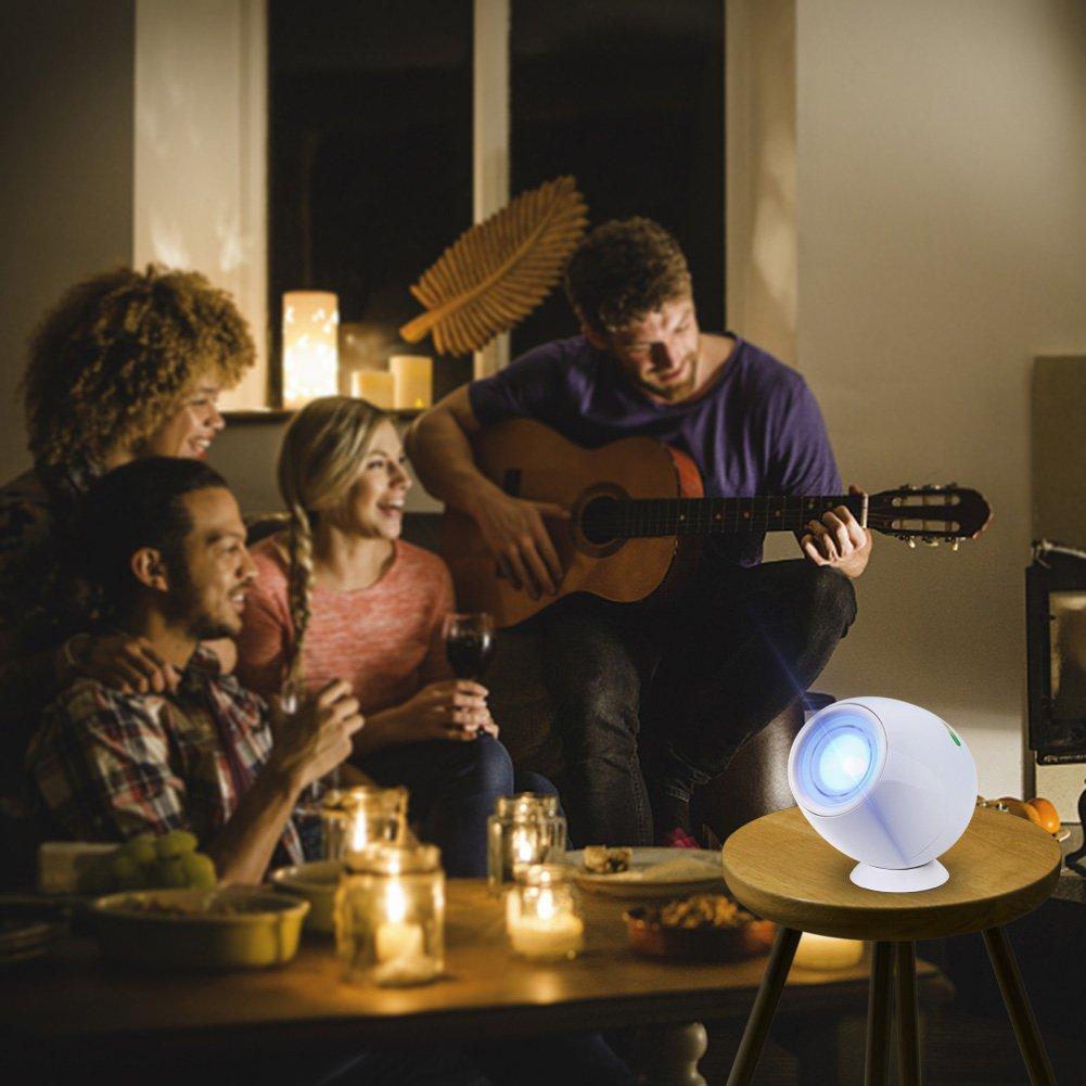 Amteker Wohn 256 Farben-LED-Licht, Touchpad-Bunte Mood wiederaufladbare Micro Farbe verändert Mood Light(Weiss)