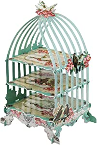 Mochiglory Air Birdcage Cardboard Cake Stand Cupcake Sweets Wedding Tea Party Display Holder