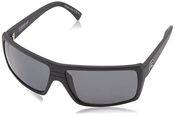 30763aa0a1ba VonZipper Mens Snark Polarized Sunglasses/Eyewear, Black Satin/Grey Poly,  One Size