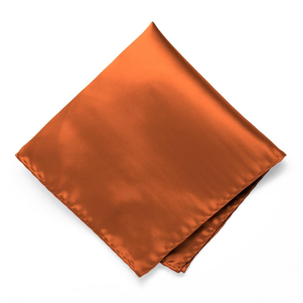 TieMart Burnt Orange Premium Pocket Square IS12PP-0B58