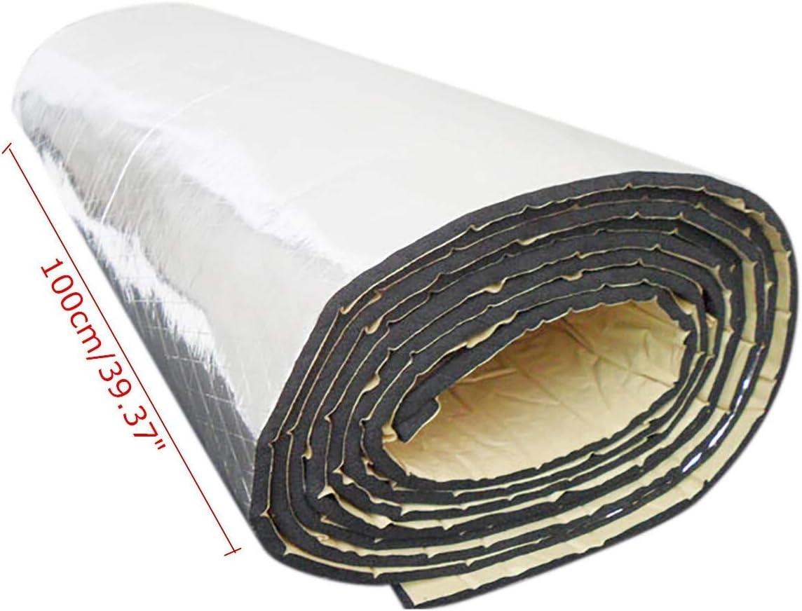 1pc 10mm 200X100cm Car Audio Noise Control Sound Deadener Car Heat Shield Insulation Proof Mat Sound Insulation Cotton