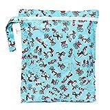 Bumkins Waterproof Zippered Wet Bag, Blue Cat