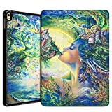 Apple iPad Pro 9.7 Case 2016, Leafbook iPad Pro 9.7 Leather Case with Auto Sleep / Wake Feature [Slim Fit] Standing Protective Smart Cover Case for Apple iPad Pro 9.7-inch Model Tablet,Goddess