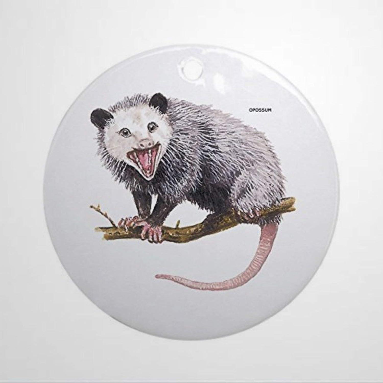 BYRON HOYLE Opossum Possum Animal Ornament Round Round Holiday Christmas Ornament Christmas Ornaments Pandemic Xmas Decor Wedding Ornament Holiday Present