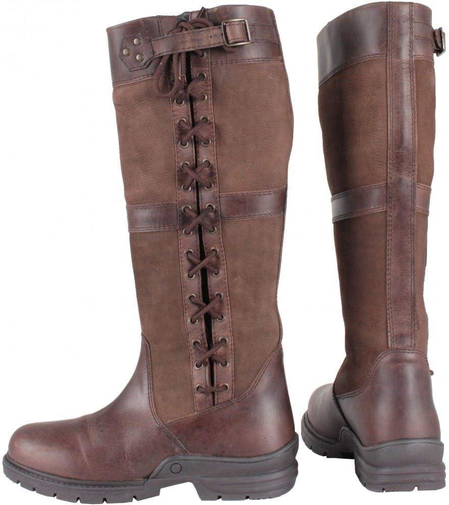 Erwachsene Outdoor Walking Wasserdicht Leder Geschn/ürt Riding Country Stiefel