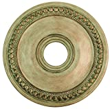 Livex Lighting 82074-73 Wingate Ceiling Medallion, Hand Painted Antique Silver Leaf