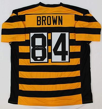 wholesale dealer b077f 71345 Antonio Brown Autographed Bumblebee Pittsburgh Steelers ...