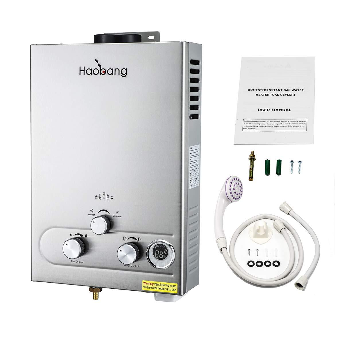HB Chauffe-eau sans ré servoir Gaz modulant technologie breveté e JSD12-S02 (NG) HaoBang