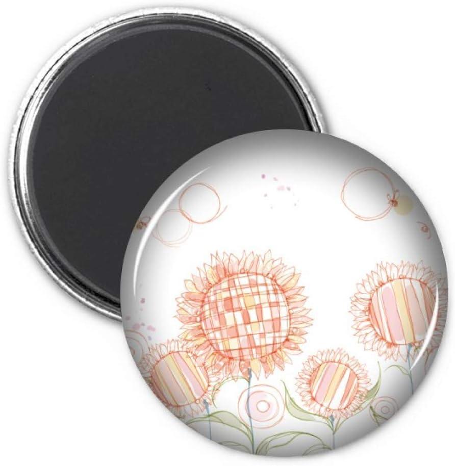 Hand Painted Flower Plant Sunflower Honeybee Refrigerator Magnet Sticker Decoration Badge Gift