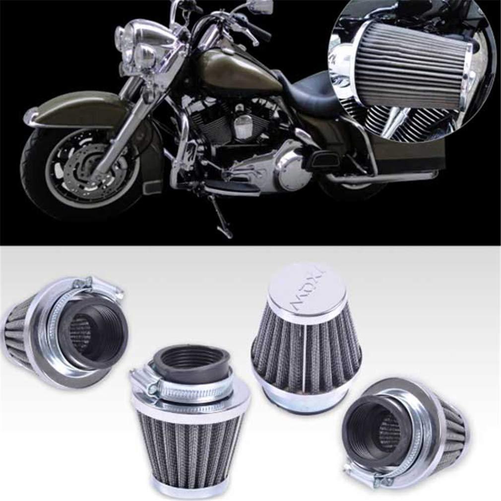 LnLyin 54 mm Filtro de Aire con Pinza de Repuesto para Patinete Minibike ATV Filtro de Aire Universal para Moto
