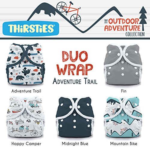 - Thirsties Package, Snap Duo Wrap, Outdoor Adventure Collection Adventure Trail Size 1