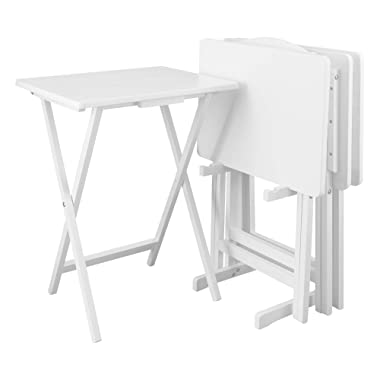 Casual Home 660-41 5pcs Set-White Tray Table