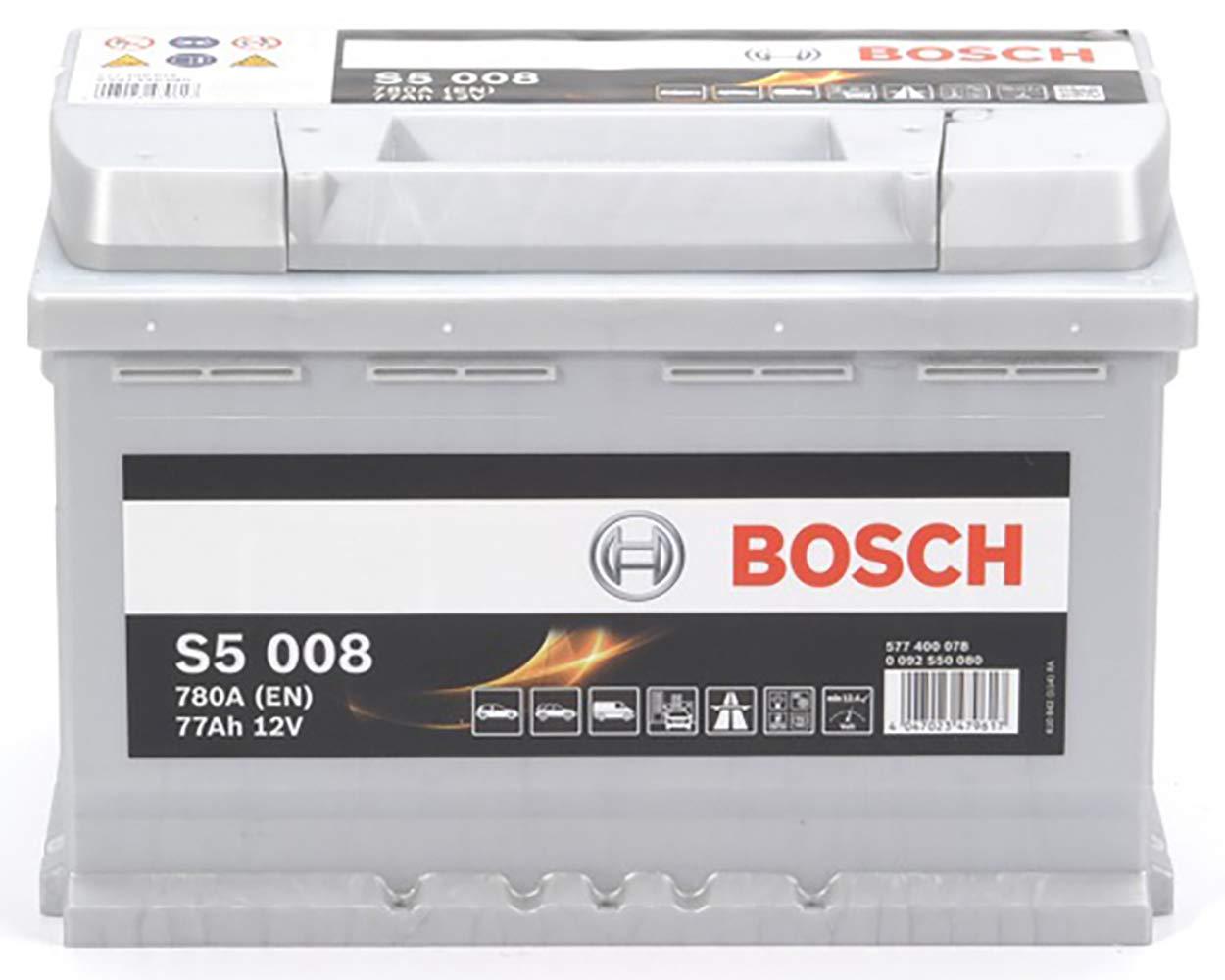 Bosch-S5008 Batteria Silver Auto 77A//h-780A