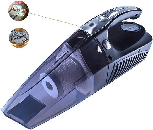 LJIN Mini Aspirador de Mano Negro 12V Encendedor de Cigarrillos del automóvil Enchufe seco y Mojado Aspirador 4 en 1 vacío neumático neumático presión iluminación Cilindro multifunción Aspirador: Amazon.es: Hogar