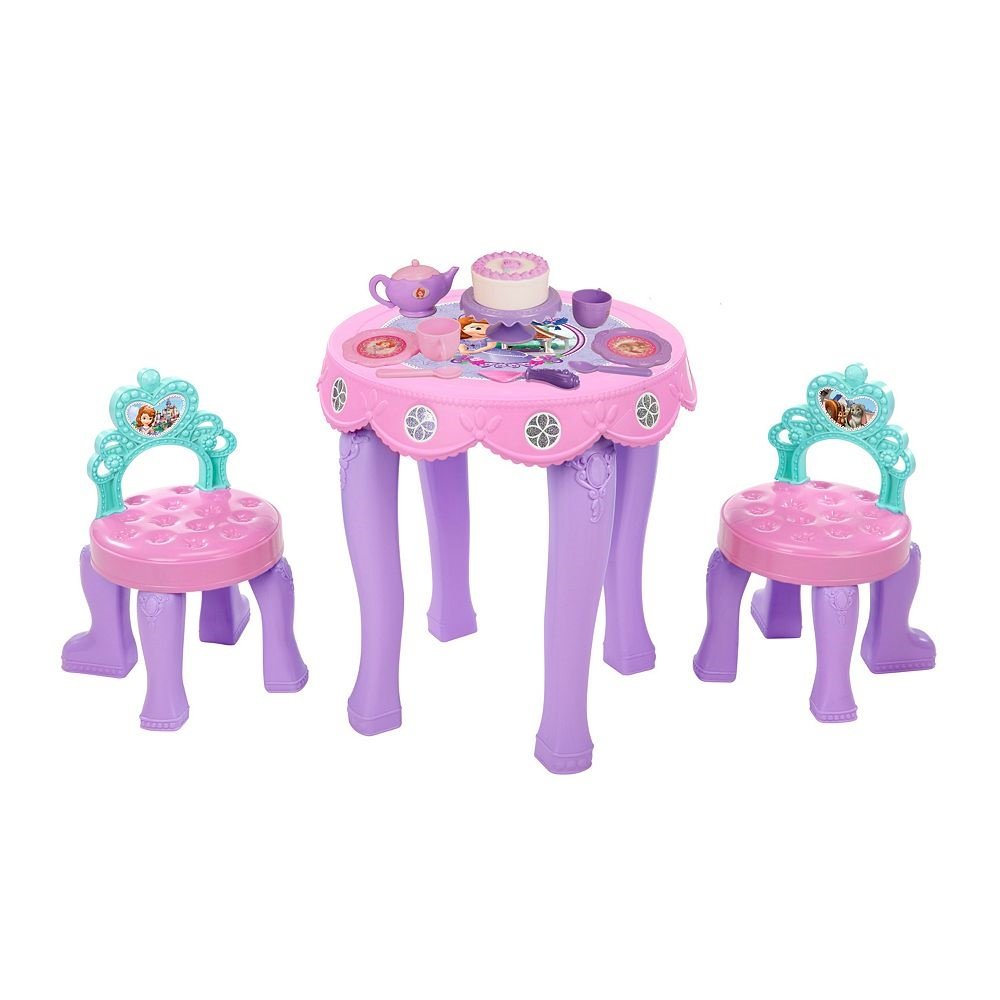 Amazon.com: Disney Sofia the First Tea Table & Chair Set: Kitchen ...