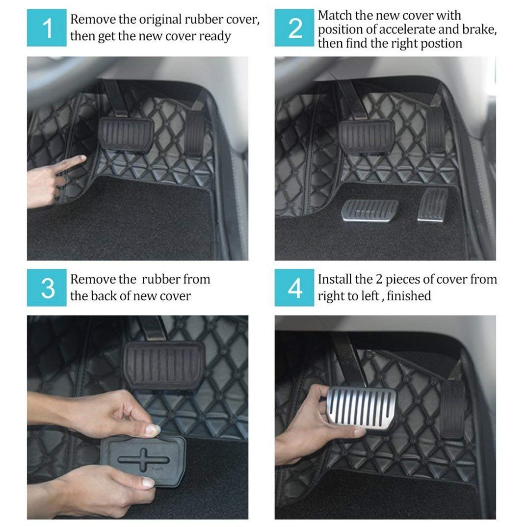freno antideslizante cubierta para modelo S y modelo X TeslaOwner Autom/ático tapa Pedal de aluminio