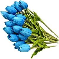 Dekoration 3 x künstliche Butterblume weiß Blumen Kunstblumen Floristik wie echt