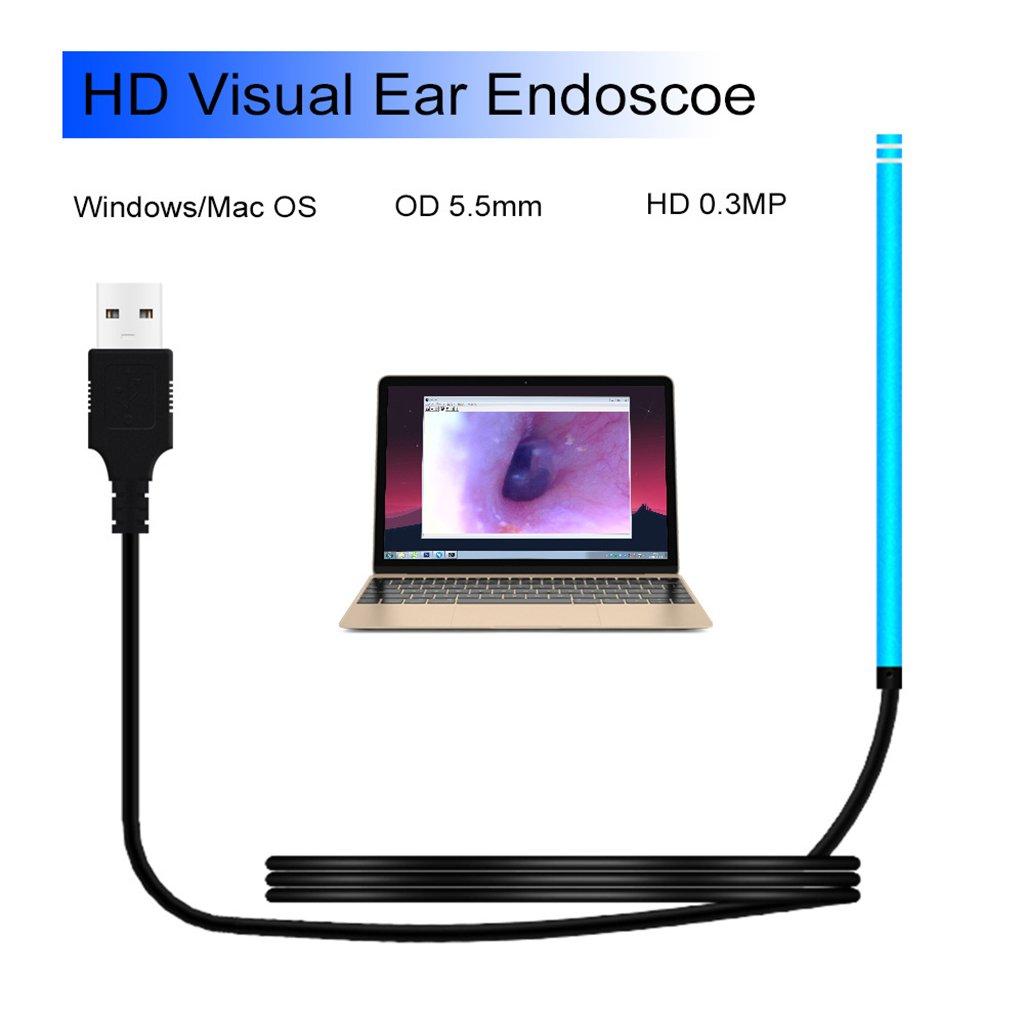 最も  耳内視鏡 目 耳 耳栓 スプーン 目 耳 スペキュラム (色: 6 LED ライト 5.5mm 耳栓 クリーニング USBインターフェイス 窓/Mac OS用 (色: ブルー) B07J69JPTZ, オオムラシ:60c5a3b9 --- ciadaterra.com